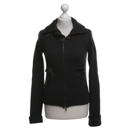 Patrizia Pepe Cardigan with leather inserts