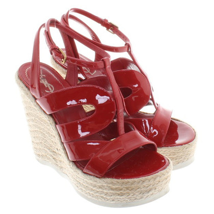 Yves Saint Laurent Wedges of patent leather