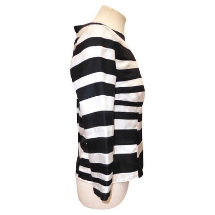 Louis Vuitton camicetta di seta con motivo a strisce