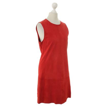 Balenciaga Wildleder-Kleid in Rot