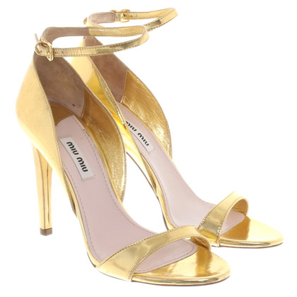 Prada Sandals in gold