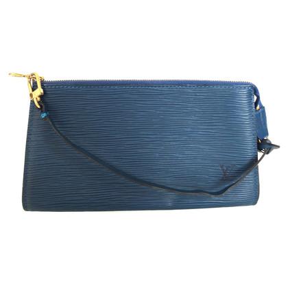 """Louis Vuitton """"Pochette Accessoires Epi leder"""" in Blauw"""