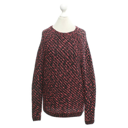 Maje Knitted pullover in black / pink