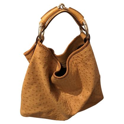 Gucci Schoudertas gemaakt van struisvogelleer