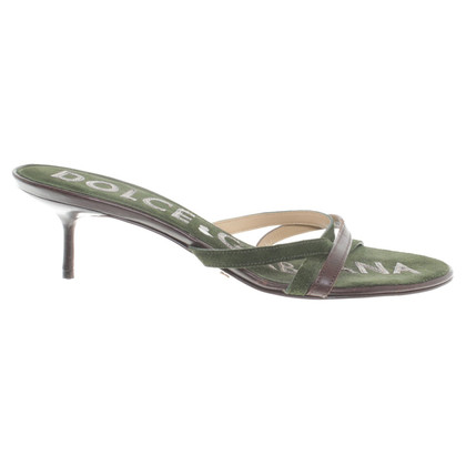 Dolce & Gabbana Sandals in green/brown