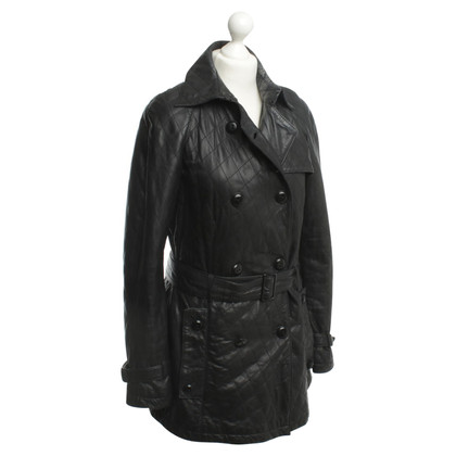 Drykorn Leather coat in black