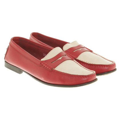 Tod's Loafer in red / beige