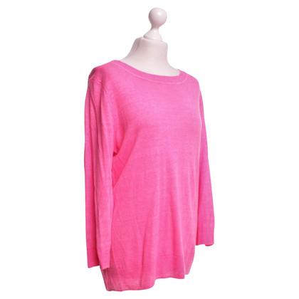 J. Crew Leinen-Pullover in Pink