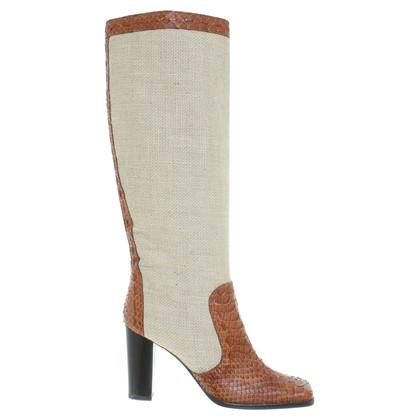 Dolce & Gabbana Stiefel aus Materialmix
