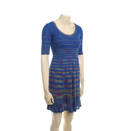 Missoni Knitted Dress in Blue