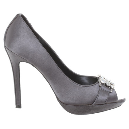 Karen Millen Satin pumps with semi-precious stones