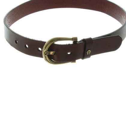 Aigner Brown red leather belt