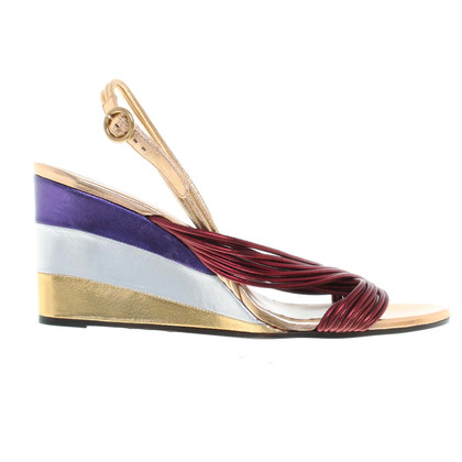 Chloé Wedges in Metallic