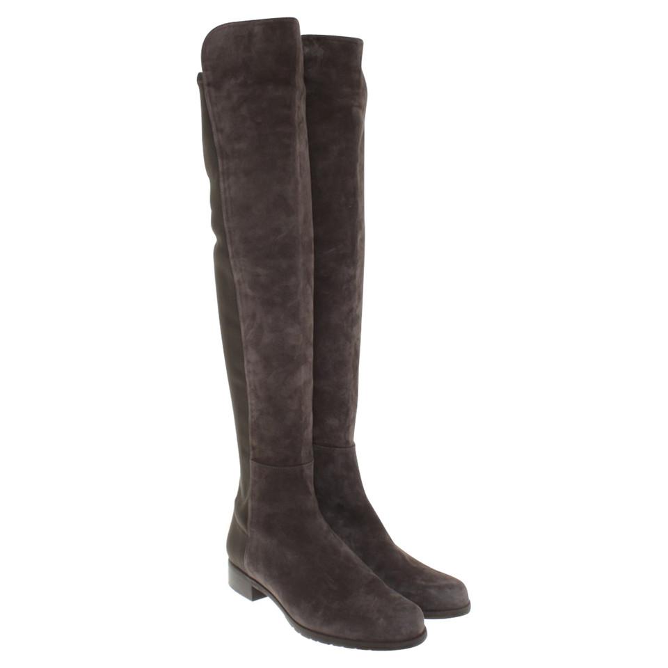 stuart weitzman overknee boots in taupe buy second hand. Black Bedroom Furniture Sets. Home Design Ideas