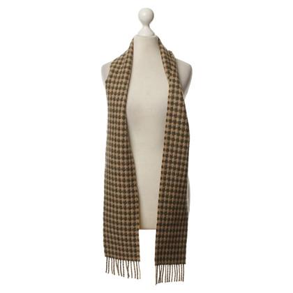 Burberry Kaschmir-scarf in green/beige