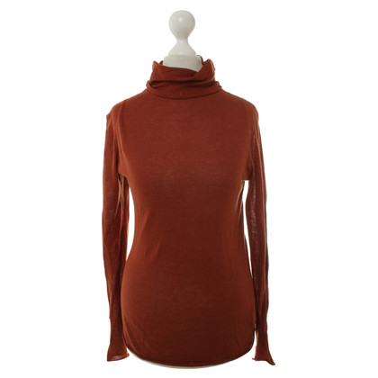 American Vintage Turtleneck Sweater in rust