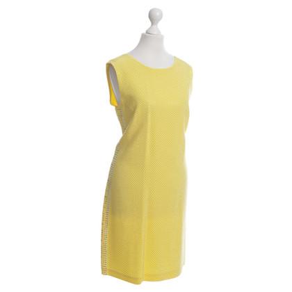 Versace for H&M Gelbes Kleid mit Schmucksteinen