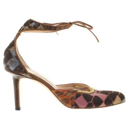Manolo Blahnik pumps with pattern