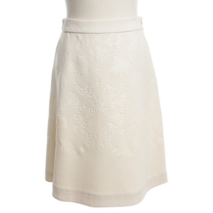 Stella McCartney Cream-colored skirt with pattern