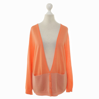 Carven Knitted Cardigan in Orange