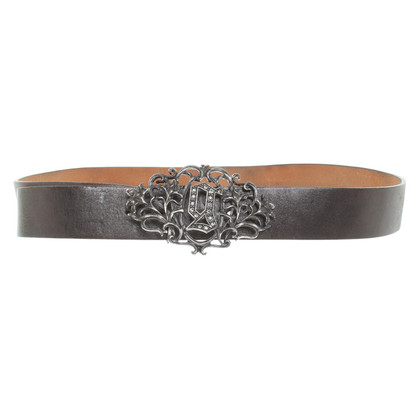 John Galliano riem in zwart