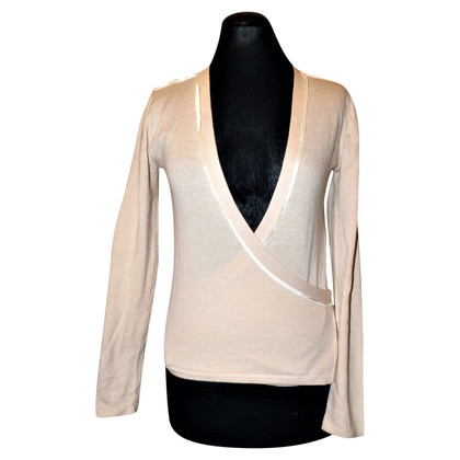 Armani Wrap sweater in cream