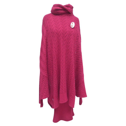 Christian Dior Dress with knitted poncho