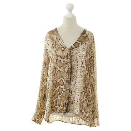 Guido Maria Kretschmer Animal-print silk blouse