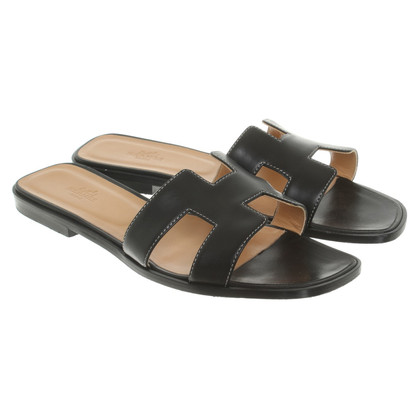 "Hermès Sandals ""Oran"" in black"