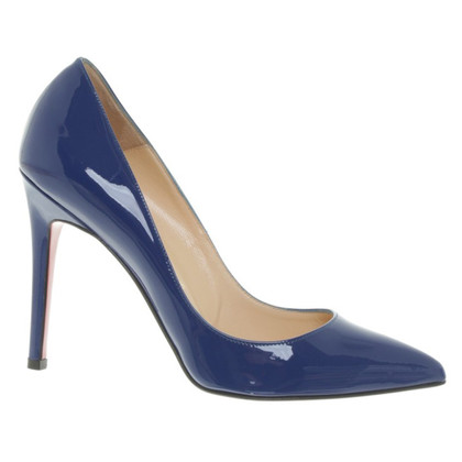 Christian Louboutin Lackleder-Pumps in Royalblau