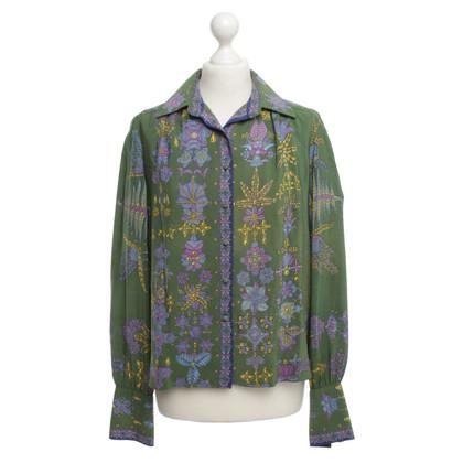 Hermès Green blouse with print