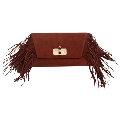 Diane von Furstenberg Suede clutch with fringes