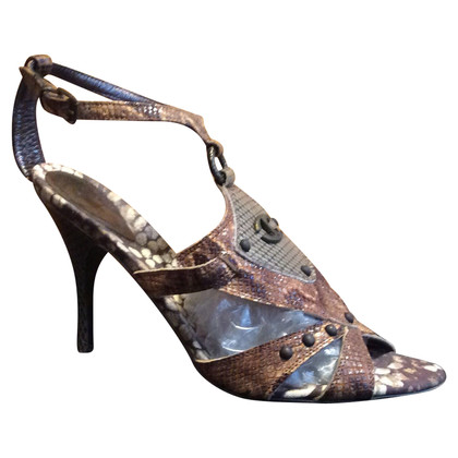 Just Cavalli Leather Sandals Python
