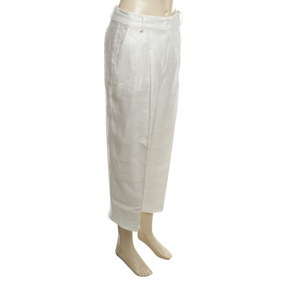 Sport Max  Linen pants in white