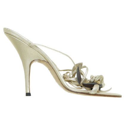 Manolo Blahnik Sandaletten in Gold