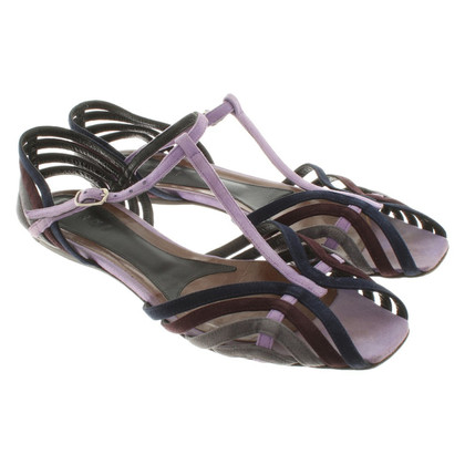 Marni Wildleder-Sandalen in Multicolor