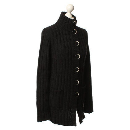 Bruno Manetti Strickjacke in Schwarz