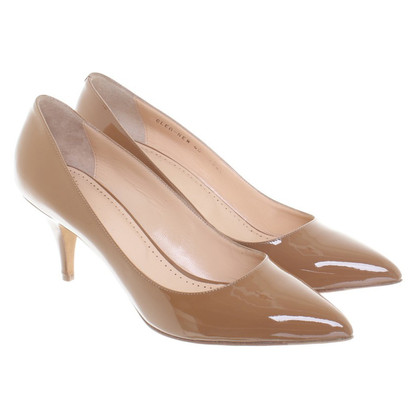 Bally Pumps aus braunem Lackleder