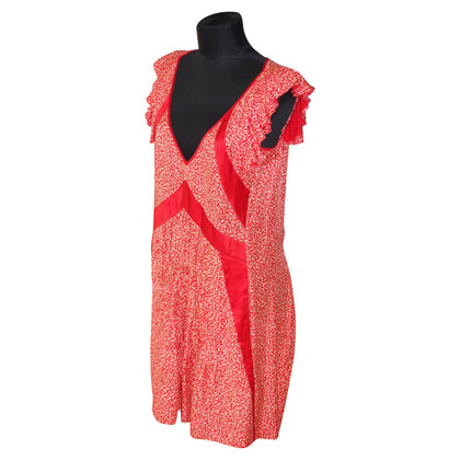 Balenciaga Silk dress with floral pattern