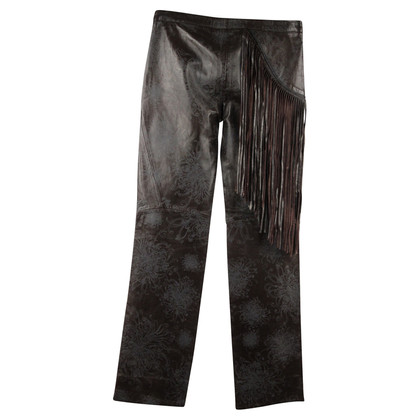 Just Cavalli Leather pants with fringe