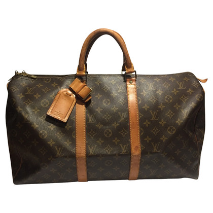 "Louis Vuitton ""Keepall 50"" Monogram Canvas"