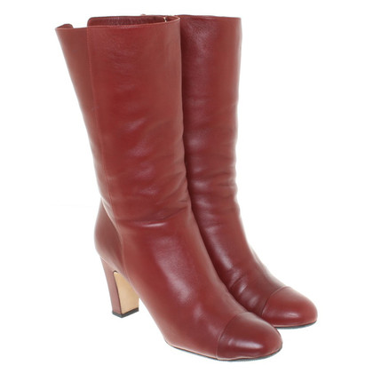 Chanel Boots in Bordeaux
