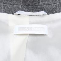 St. Emile vestito gessato con i modelli in grigio / bianco
