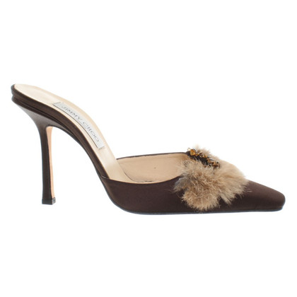 Jimmy Choo Mules mit Fell-Applikation