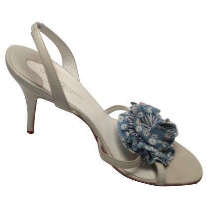 L'autre Chose Pastellblaue Sandalette