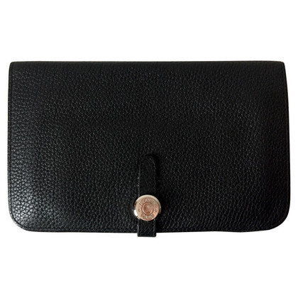 Hermès Black Dogon Wallet