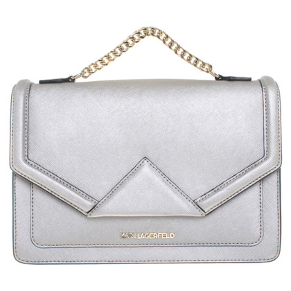 Karl Lagerfeld Borsa a tracolla color argento