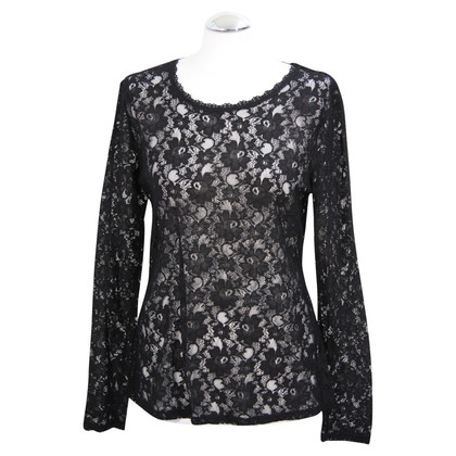 French Connection Lace top in black