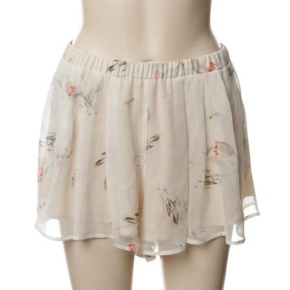 Patrizia Pepe Shorts in seta con motivo