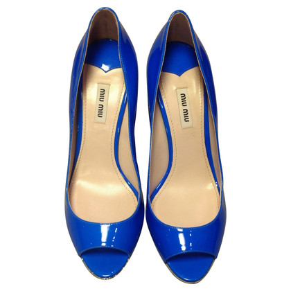 Miu Miu Peeptoes in Blau